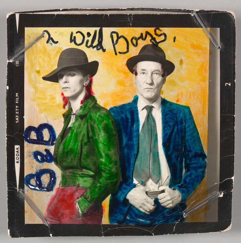 David Bowie with William Burroughs, February 1974
