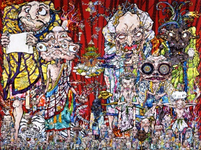 Takashi Murakami Isle of the Dead, 2014 acrylic on canvas, Private Collection © 2014 Takashi Murakami/Kaikai Kiki Co., Ltd. All Rights Reserved Photo: Robert McKeever, Courtesy Gagosian Gallery