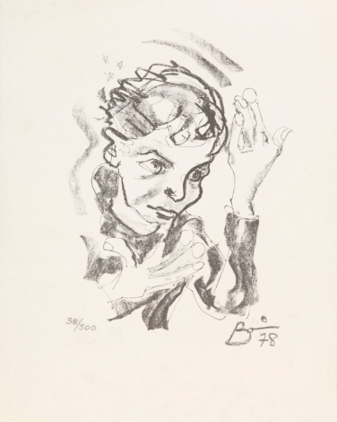 Print after a self-portrait by David Bowie, 1978. Courtesy of The David Bowie Archive. Image © Victoria and Albert Museum