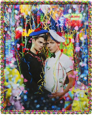 Le petit bal (Quentin Bruhat & Izae), 2015 INK-JET PHOTOGRAPH PRINTED ON CANVAS AND PAINTED, UNIQUE PIECE 150 X 118 CM 59 X 46 1/2 IN.