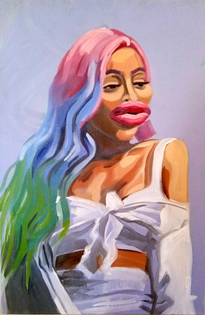 CAITLIN CHERRY, BLACCHYNA, 2017, OIL ON CANVAS, 36 X 24 IN