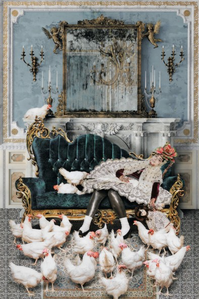 Siamak Filizadeh, Anis al-Daula from the series Underground, 2014, inkjet print, 59 × 39 3/8 in., Los Angeles County Museum of Art, purchased with funds provided by Kitzia and Richard Goodman through the 2016 Collectors Committee, © Siamak Filizadeh, photo © Museum Associates/LACMA
