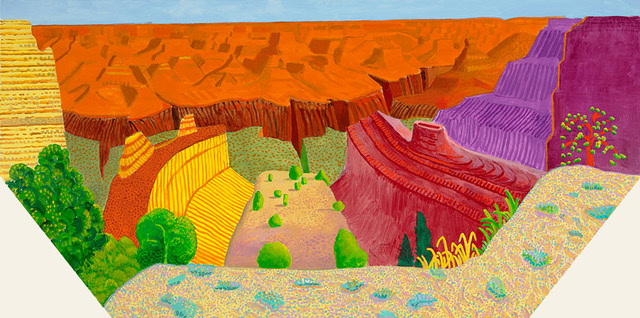 pace gallery, David Hockney,Grand Canyon ll
