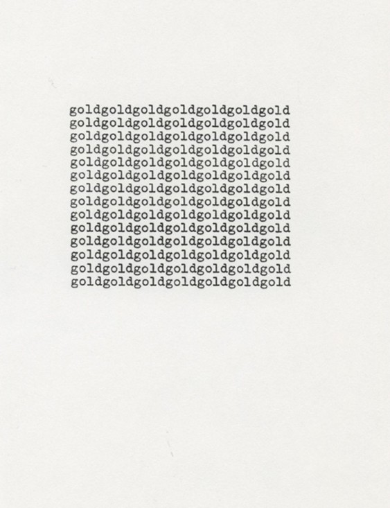 Carl Andre, One Hundred Sonnets