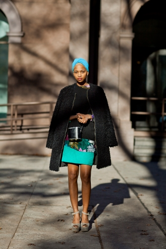 Style Profile, Ni'ma Ford, December 22, 2011, 2011. Scott Schuman (American, born 1968). Pigment print. 30.5 × 21.6 cm (12 × 8 1/2 in.). Courtesy Danziger Gallery. © The Sartorialist, Scott Schuman