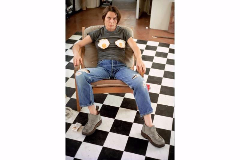 Sarah Lucas, Self-Portrait