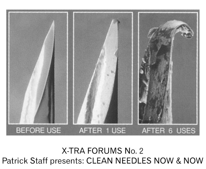 Patrick Staff presents CLEAN NEEDLES NOW & NOW