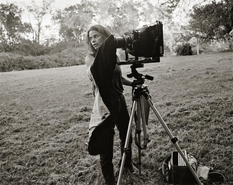 Sally MANN with camera