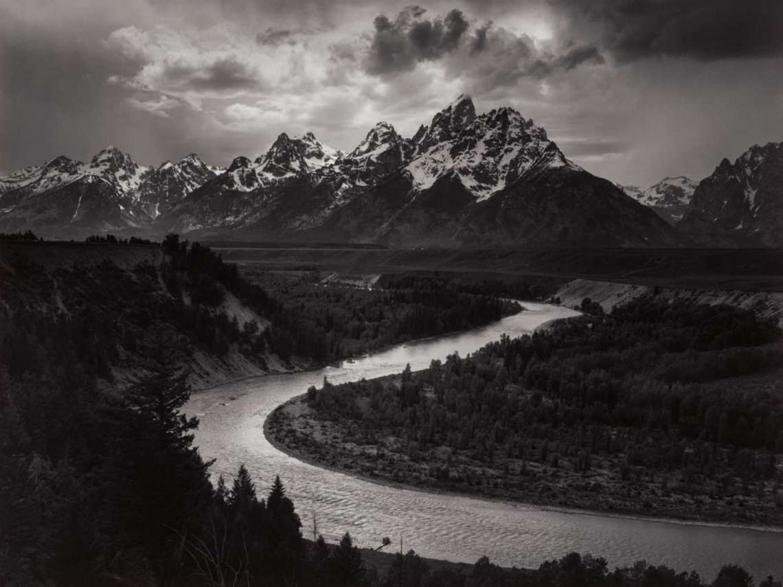 Ansel Adams, The Tetons and Snake River, Grand Teton National Park, Wyoming,