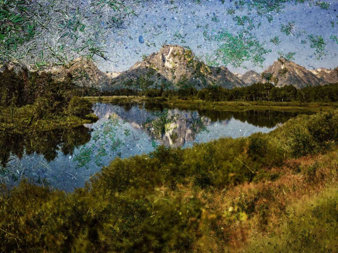 Abelardo Morell, Tent-Camera Image on Ground,Grand Teton National Park